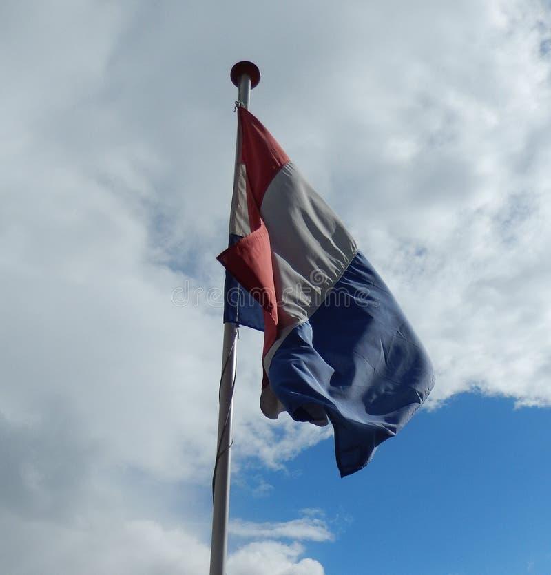 Holländsk flagga, Nederländerna NL arkivbild