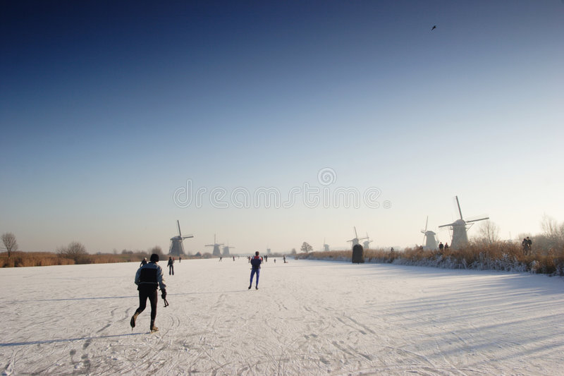 holländsk liggandevinter fotografering för bildbyråer