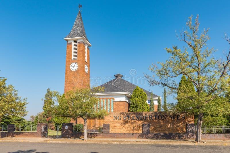 Holländsk omdanad kyrka västra Standerton royaltyfria bilder