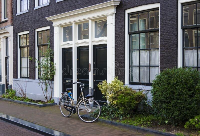 holländsk platsgata royaltyfri fotografi