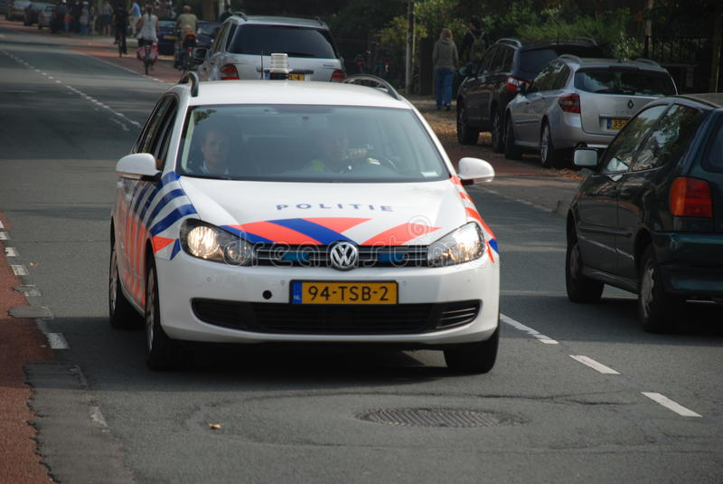 holländsk polis för bil royaltyfri fotografi