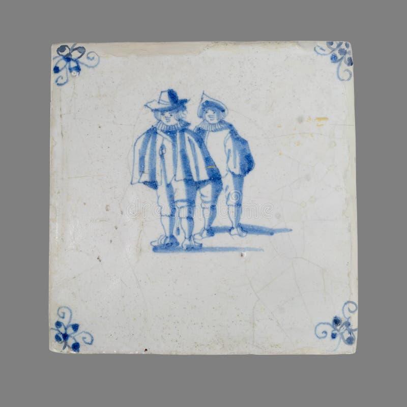 Holländsk tegelplatta från 16th till det 18th århundradet royaltyfri fotografi