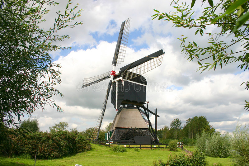 holländsk windmill royaltyfri foto