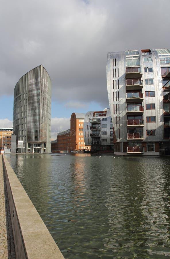 holländska moderna kontor för lägenhetarkitektur arkivbilder