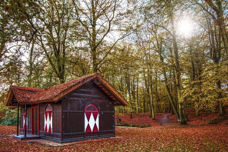 Holländskt landshus arkivbild