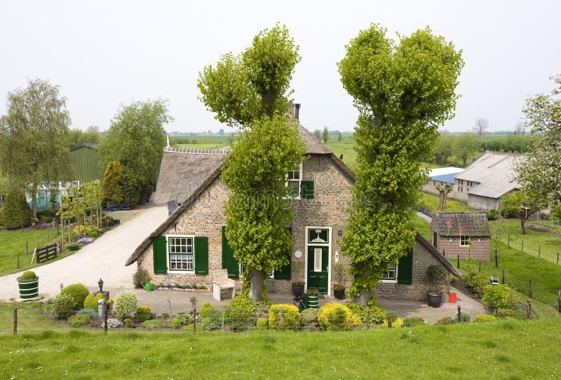 holländskt lantgårdhus royaltyfria foton