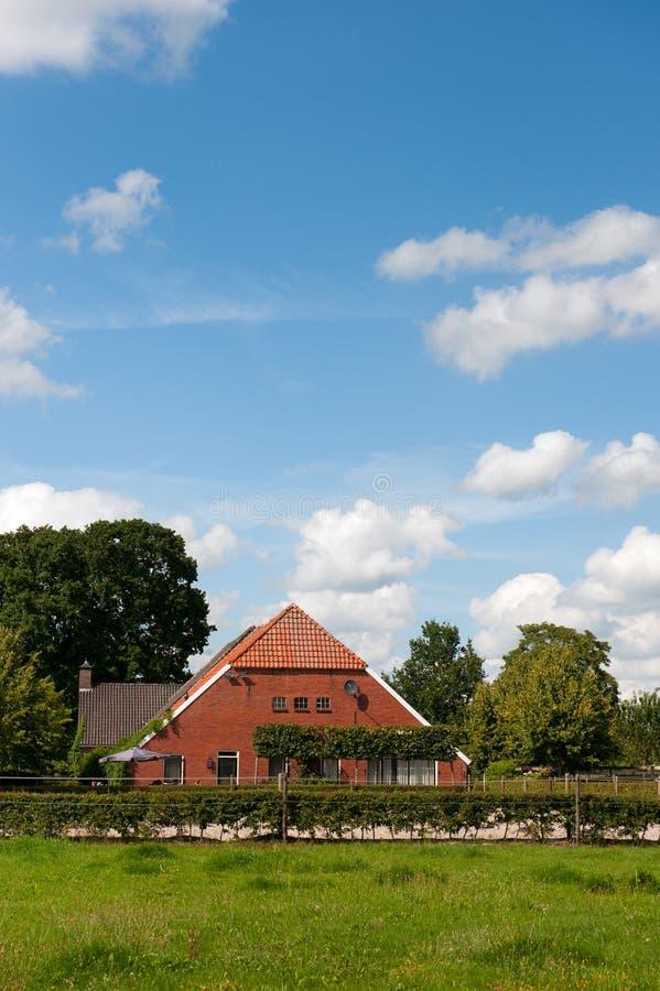 holländskt lantgårdhus arkivbild
