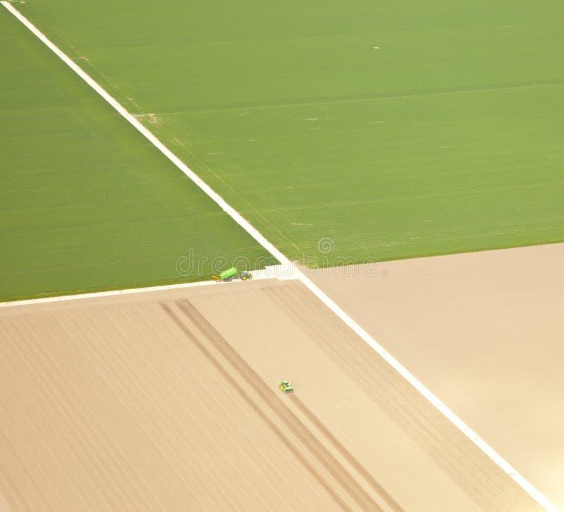 Holländskt lantgårdlandskap från över royaltyfria bilder