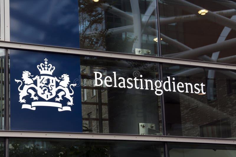 Holländskt skattkontor i Haag royaltyfria foton