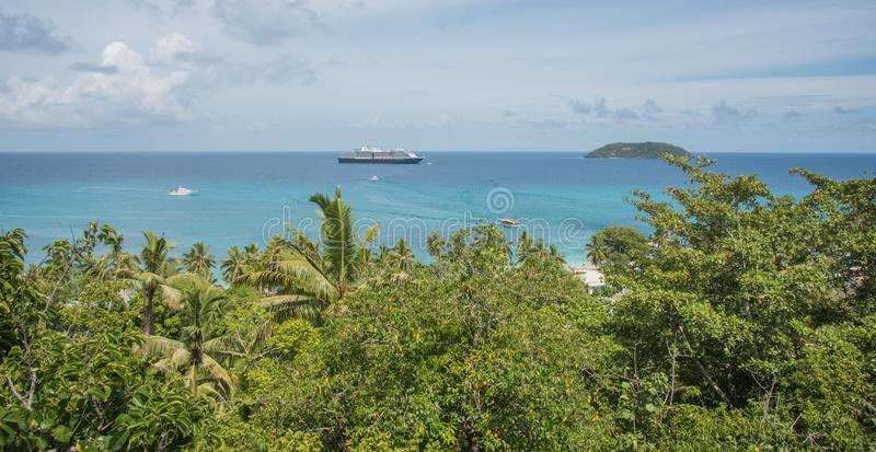 Holland America Line Cruising: Le isole del Pacifico fotografia stock libera da diritti