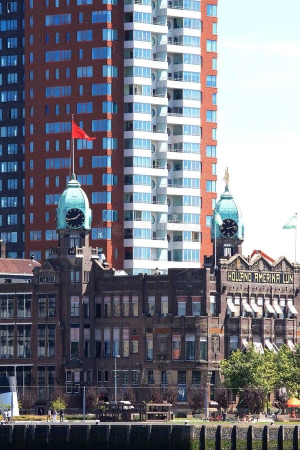 Holland-Amerika Lijn i Rotterdam, Nederländerna fotografering för bildbyråer
