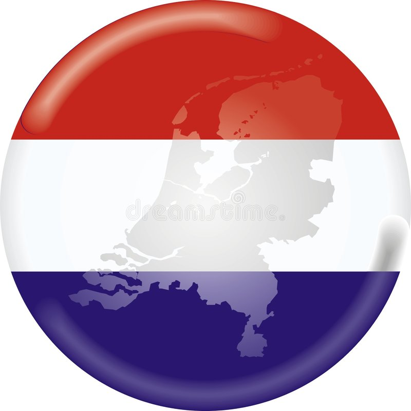 Holland bandery mapa ilustracja wektor