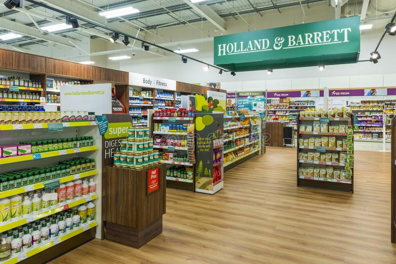 A Holland and Barrett Store royalty free stock image