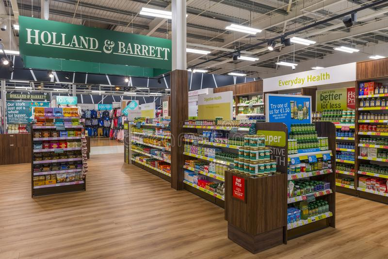 A Holland and Barrett Store royalty free stock images