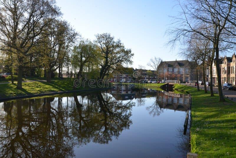 Holland landscape Alkmaar city royalty free stock images