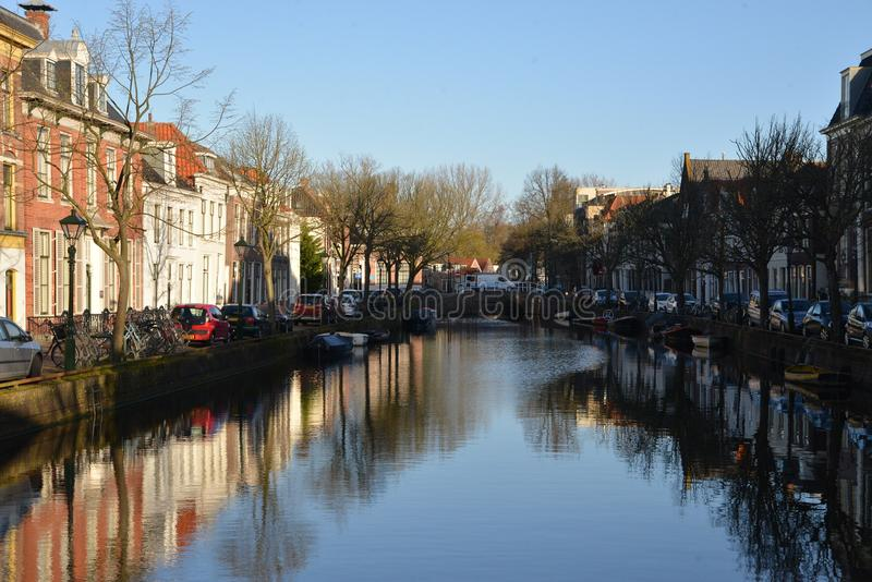 Holland-Landschaft-Alkmaar-Stadt stockfotos