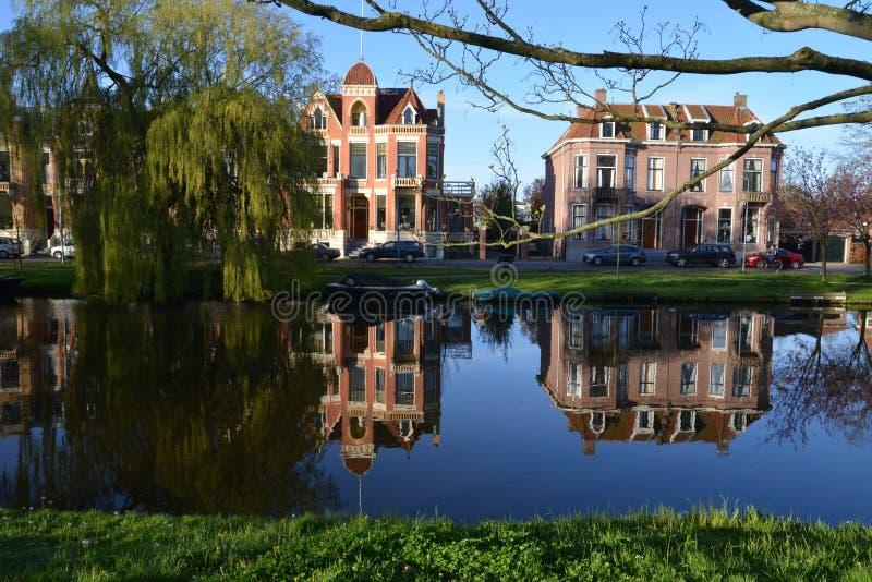 Holland-Landschaft-Alkmaar-Stadt stockfoto