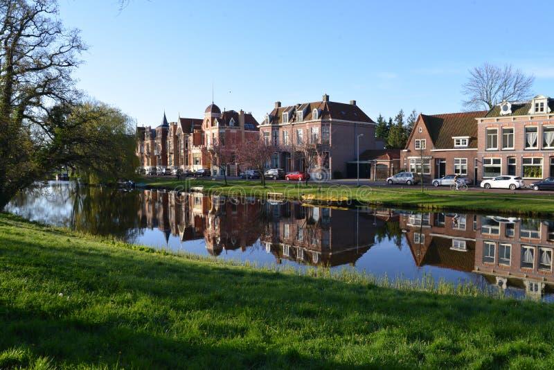 Holland-Landschaft-Alkmaar-Stadt lizenzfreies stockbild