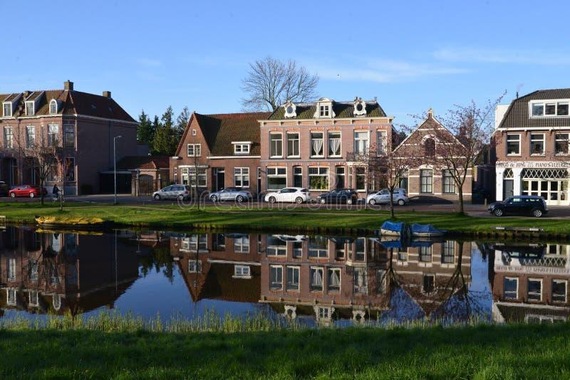 Holland-Landschaft-Alkmaar-Stadt lizenzfreie stockfotografie