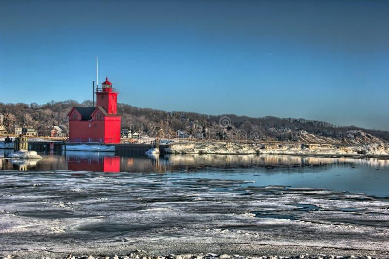 Holland Lighthouse foto de archivo