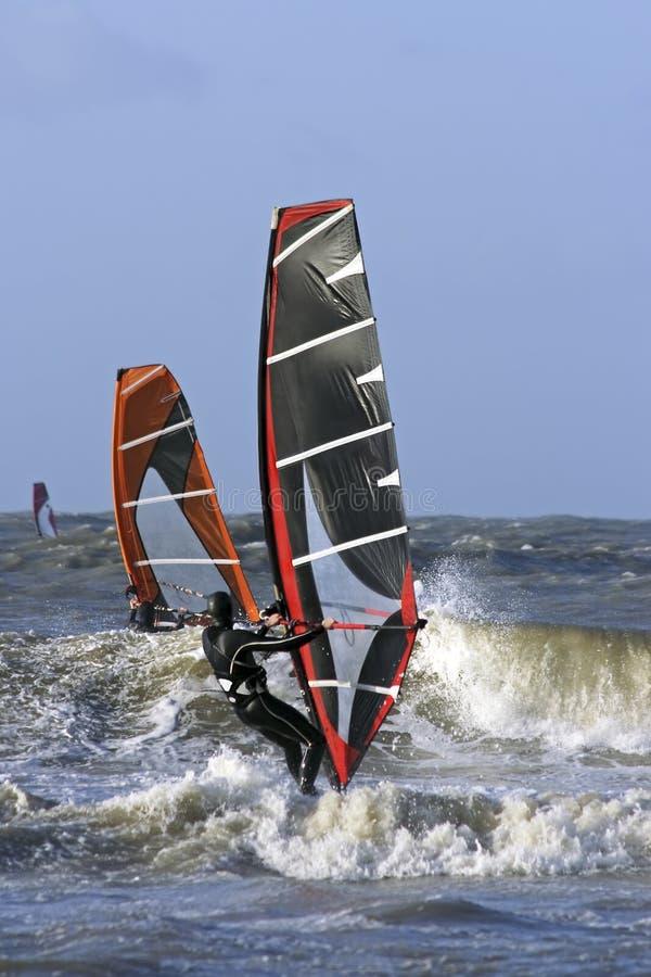 holland north sea surfing windsurfers стоковые фотографии rf