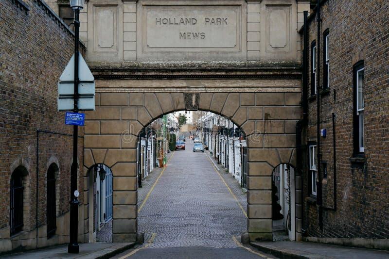 Holland Park Mews fotos de archivo libres de regalías