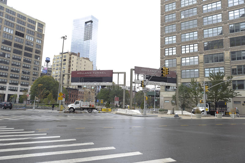 Download Holland Tunnel Closed Editorial Stock Image - Image: 27581319