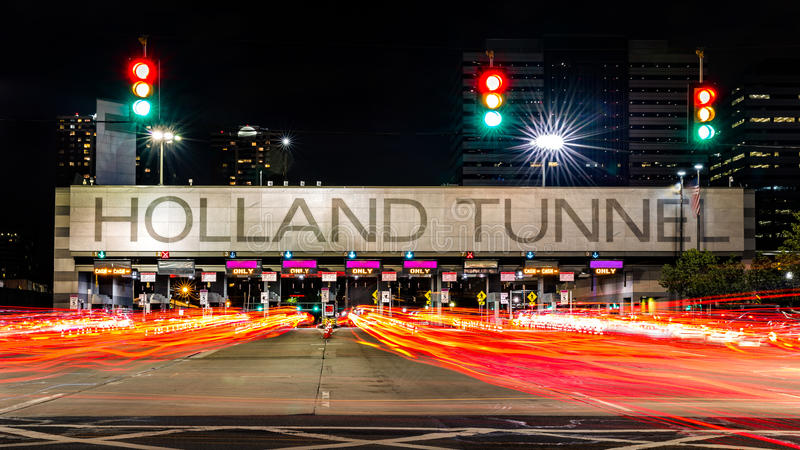 Holland Tunnel-tolcabine stock foto