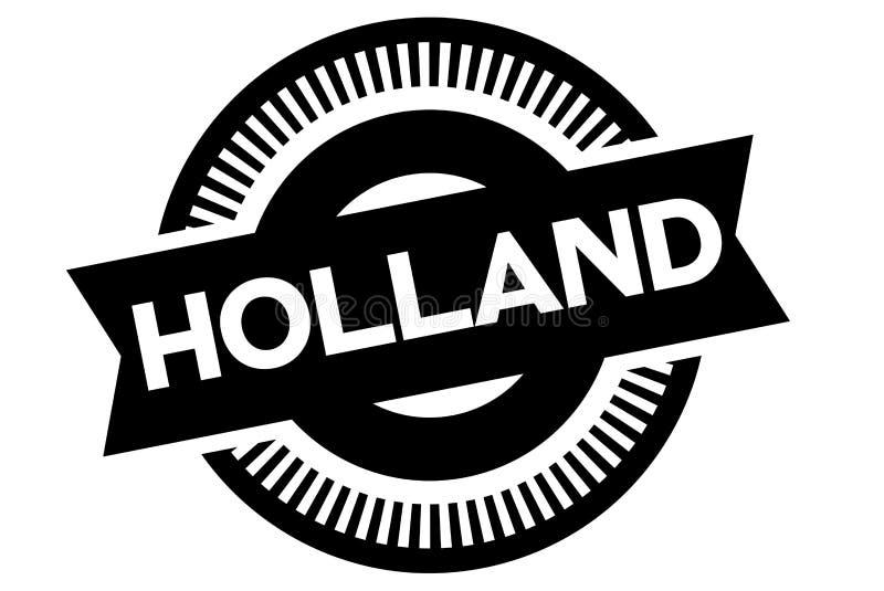 Holland typographic stamp stock illustration