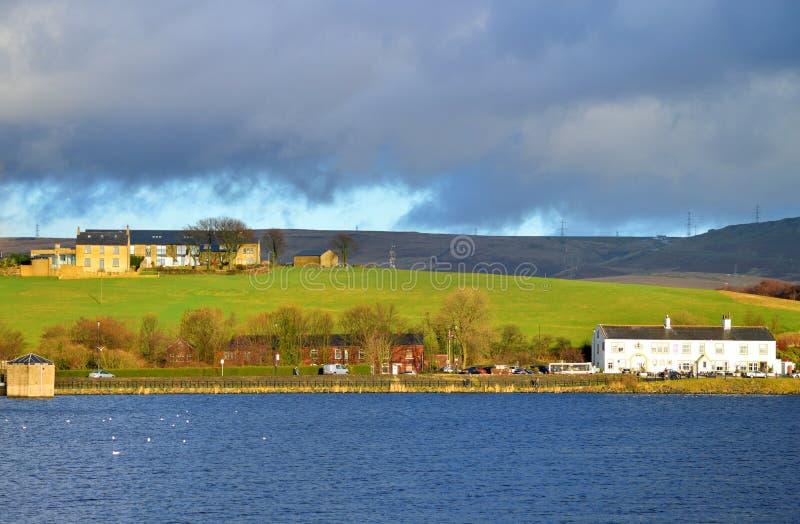 Hollingworth湖在Rochdale兰开夏郡 免版税库存图片