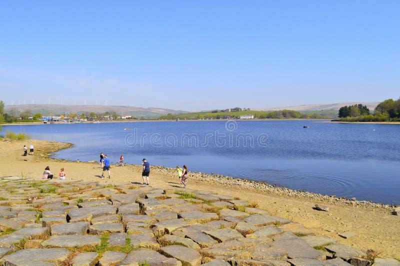 Hollingworth lake in springtime royalty free stock image