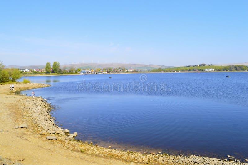 Hollingworth lake in springtime stock images