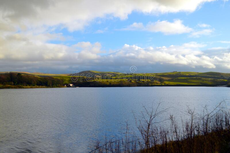 Hollingworth lake in winter royalty free stock photos