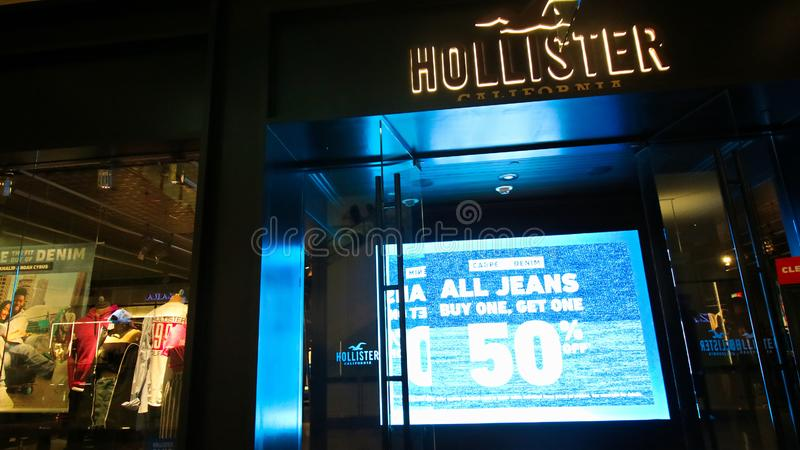 HOLLISTER Logo On Store Front Sign photo stock