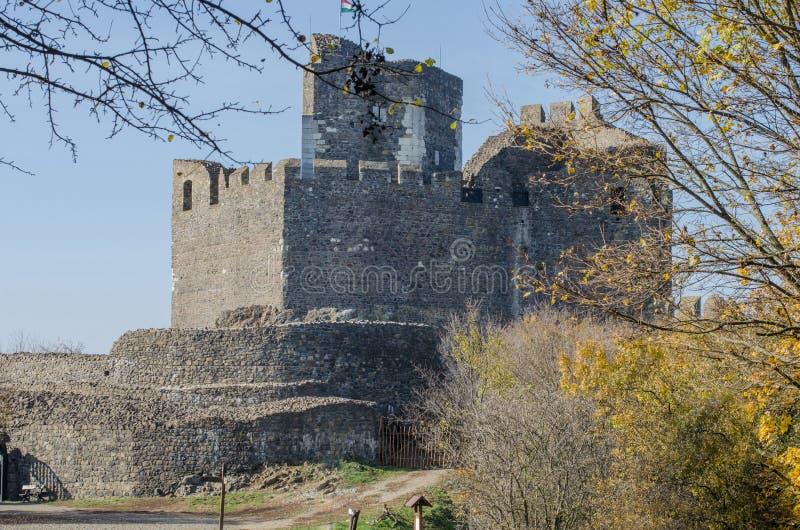 Holloko城堡在匈牙利和秋天停放  库存图片