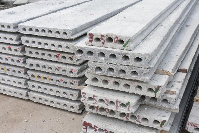 Hollow core slab royalty free stock photography