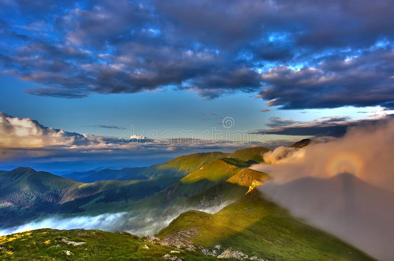 Rare hollow efffect in Rodnei Mountains royalty free stock images
