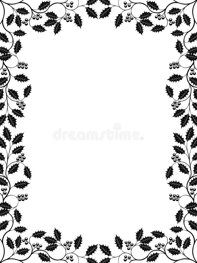 Download Holly stock vector. Illustration of frame, tree, plant - 16458468