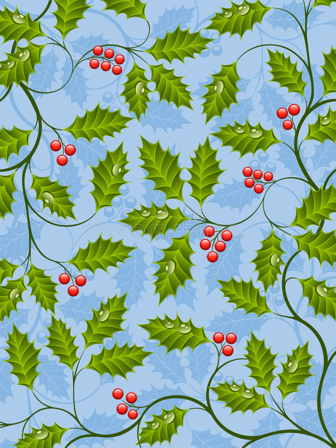 Download Holly stock vector. Image of blue, ornament, natural - 20071194