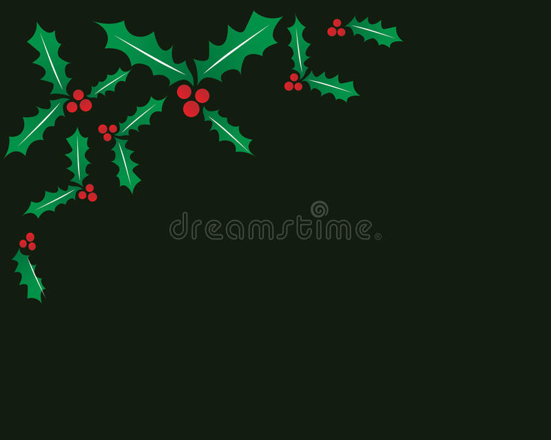 Download Holly stock illustration. Image of color, happy, border - 22414134