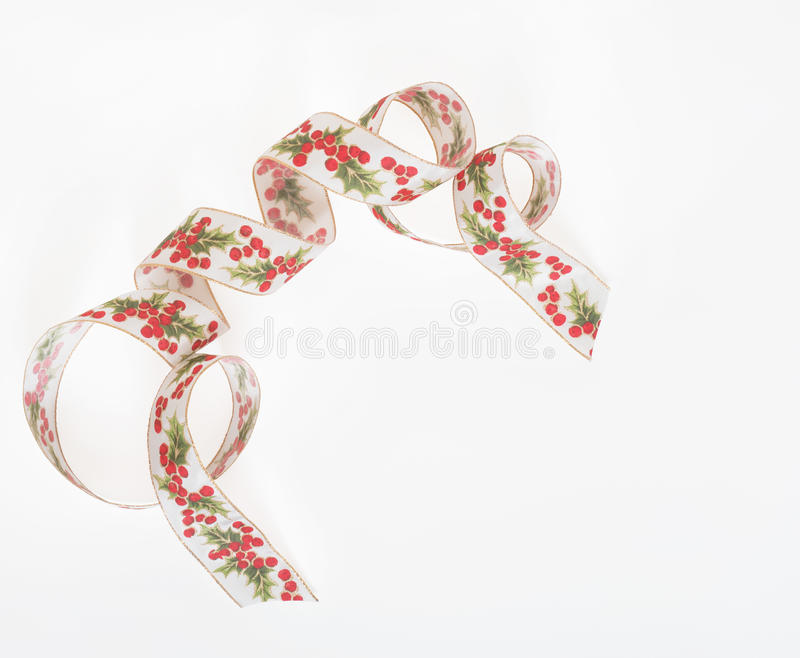 Holly Accent Ribbon stock image