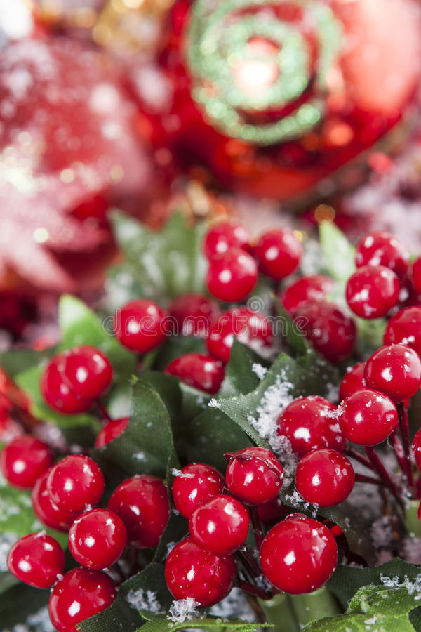 Holly Berries Christmas decoration stock photo