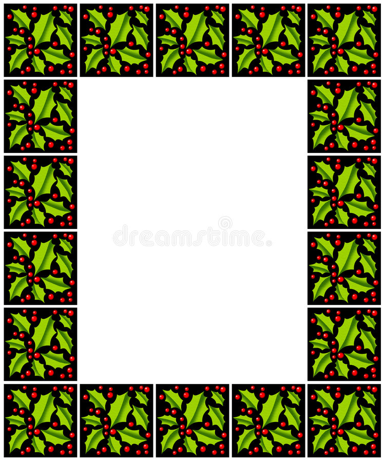 Download Holly and Berries Frame stock illustration. Illustration of xmas - 6731881