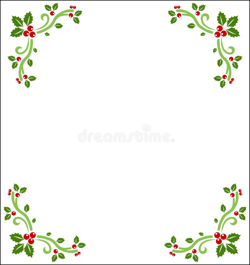 Holly berry borders. Vector Illustration of holly berry borders. Can be used in letterheads and other kinds of creative assets. Visit: https://graphixandcode.com stock illustration