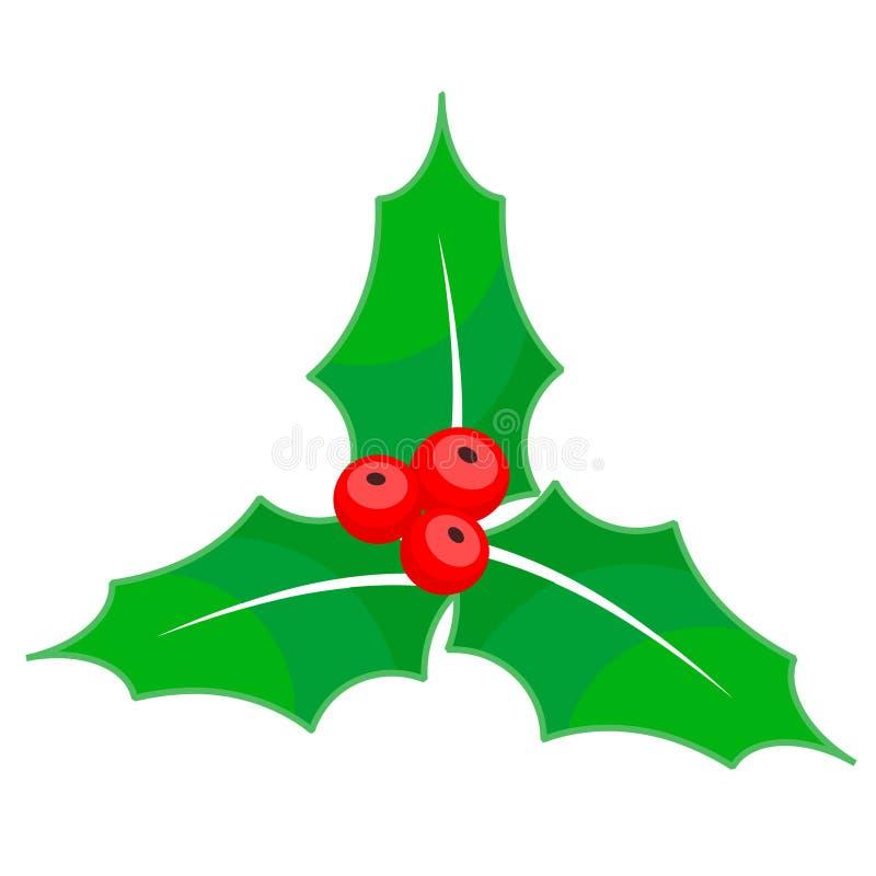 Holly berry Christmas on white background, stock vector illustration vector illustration