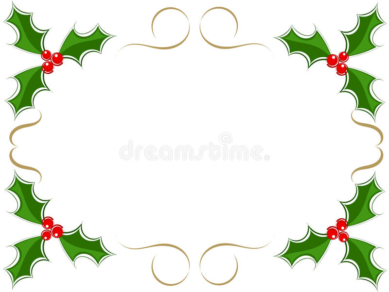 Download Holly berry frame stock vector. Image of berry, isolated - 22261539