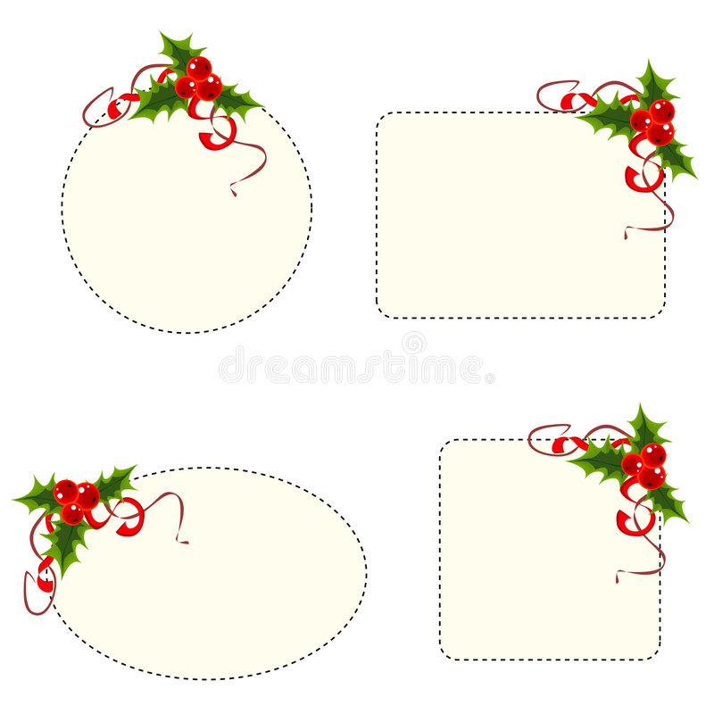 Holly berry frames stock illustration