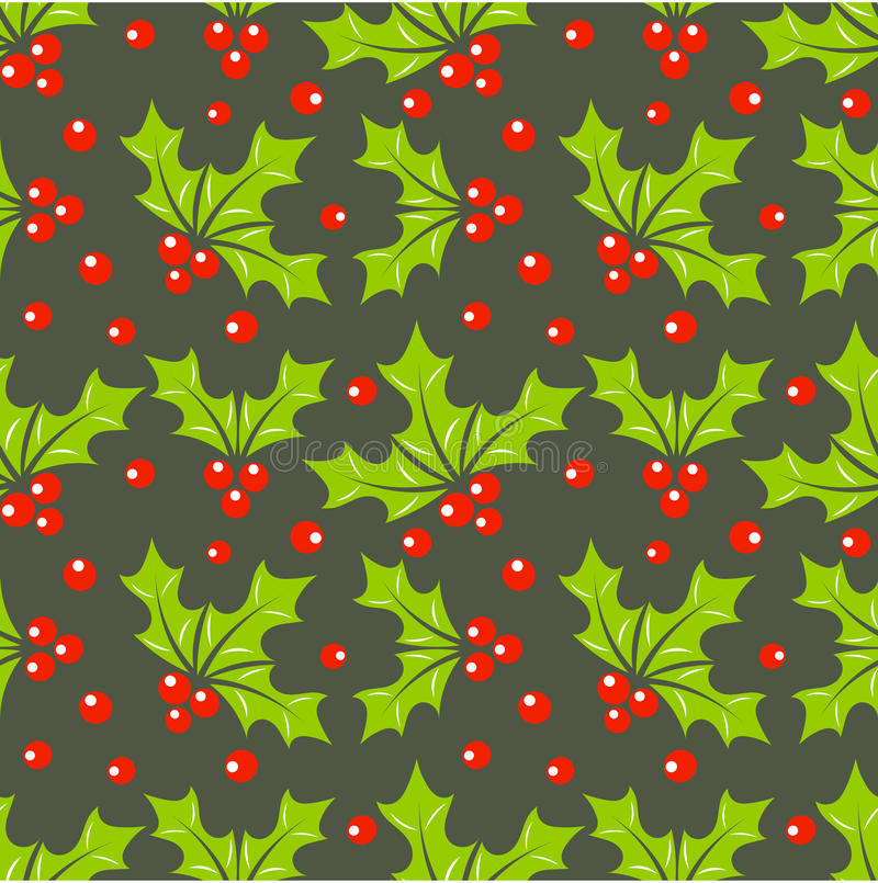 Free Holly Berry Pattern Royalty Free Stock Image - 34802156