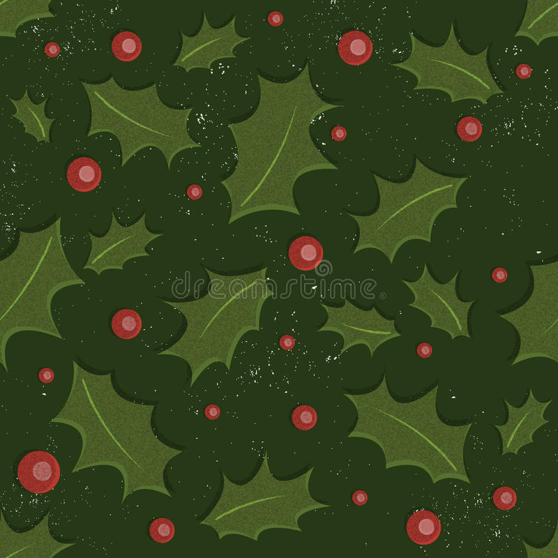 Download Holly Christmas Pattern Royalty Free Stock Photos - Image: 27585008
