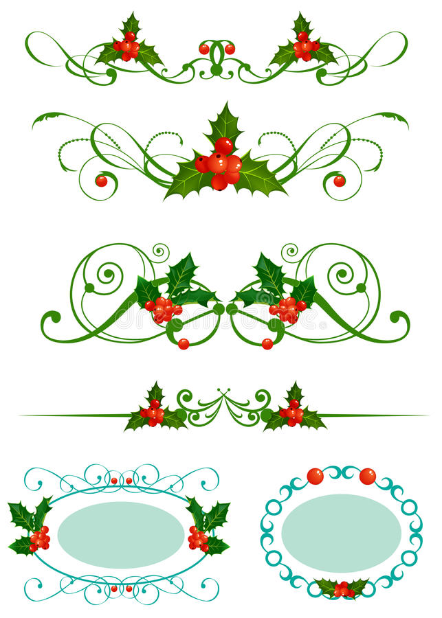 Download Holly. Christmas set stock vector. Image of style, group - 18859466
